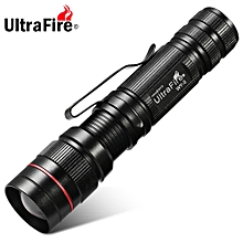 Xpe R2 389LM 3 Files Compact Telescopic Focus Flashlight - Black