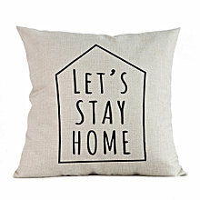 Home Decor Cushion Cover Happy Sunmer Time Throw Pillowcase Pillow Covers