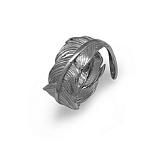 Fashionable Simple Feather Elegant Adjustable 925 Sterling Silver Ring