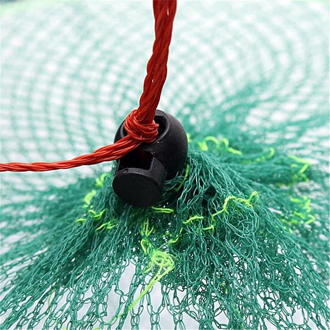 ... Folding Round Metal Frame Nylon Mesh Crab Fish Fishing Landing Net-Green 5
