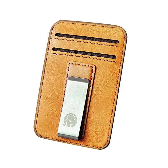 Slim Minimalist Front Pocket Hook Blocking Leather Wallets Pocket Gifts