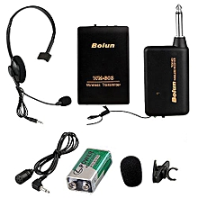 Handheld Remote Wireless Microphone Headset Stage Mic FM Receiver Clip^