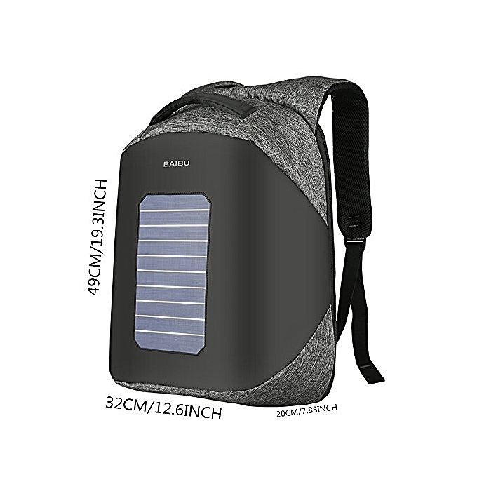 5d42c862e50a Business Laptop Backpack,Solar Powered Backpack with USB Charging Port 5.3  W Solar Panel Waterproof Oxford Travel Backpack School Daypack for 15.6 ...