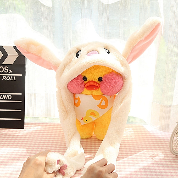 f7f6c51c5734 ... New Style Cute Funny Rabbit Hat Moving Bunny Ears Soft Plush Cap Toys  Gifts ...