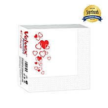 Moment Hearts White Serviettes - 1 Pack
