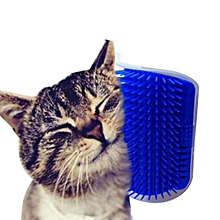 Refined  LALANG Pet Cat Self Groomer Hair Removal Brush Comb (Blue)