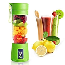 Portable Blender Juicer,Mixer,USB Rechargeable, 380ml-Green.