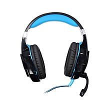 G2000 - Headset Headphone Stereo Gaming Hidden Mic - Blue+Black
