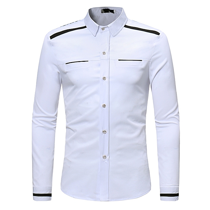 cb446781993ef AFankara Shirt Slim Fit Popular Designs Men Shirts-White   Best ...