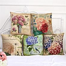 45x45cm Flower Style Cartoon Decorative Sofa Pillow Case Modern Floral Printed Cushion Cover