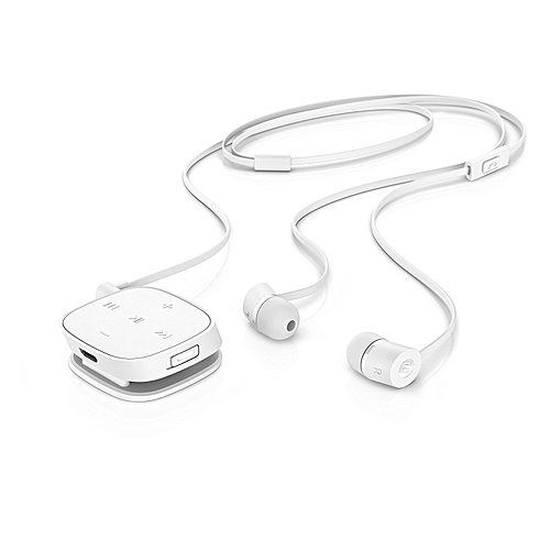 H5000 Bluetooth Earphones with Inbuilt Microphone - White