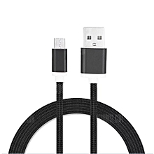 1.5M Nylon Braid Micro USB Data Charging Cable for Android Mobile Phones (Black)