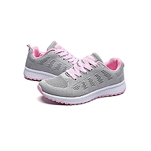 Women Fashion Mesh Round Cross Straps Flat Sneakers Running Shoes Casual Shoes(US Size)