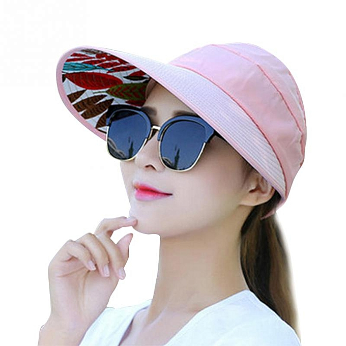 42bd15000 Summer Sun Protection Folding Sun Hat for Women Wide Brim UV Protection Sun  Hat Beach Packable