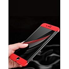Iphone 8/8Plus/X/7/7 Plus/6/6s/6Plus/6S Plus Phone Case 360 Degree Full Protection Plastic Case____IPHONE 7PLUS____black