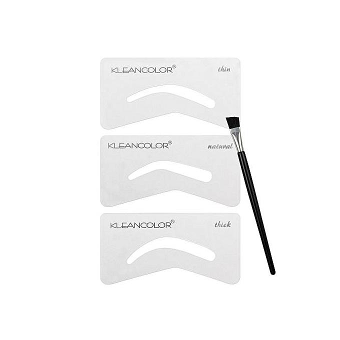 Buy Kleancolor Eyebrows Essential Kit 3 Eyebrow Stencils 1 Brush