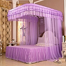 2 Stands Mosquito Net With Sliding Rails-Purple