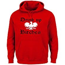Red Drink Up Hoodie