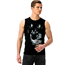 Black Fashionable Regular Jersey Tank Top