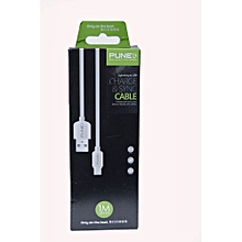 USB Charger & Data Sync Cable For type C Android Phone - White