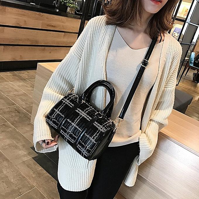 834363b6e3 Generic Casual PU Shoulder Bag Ladies Handbag Messenger Bag (Grey ...