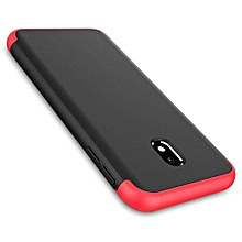 Samsung Galaxy J7 Pro (2017) 360 - Full - Protection Cover Case -Black and Red