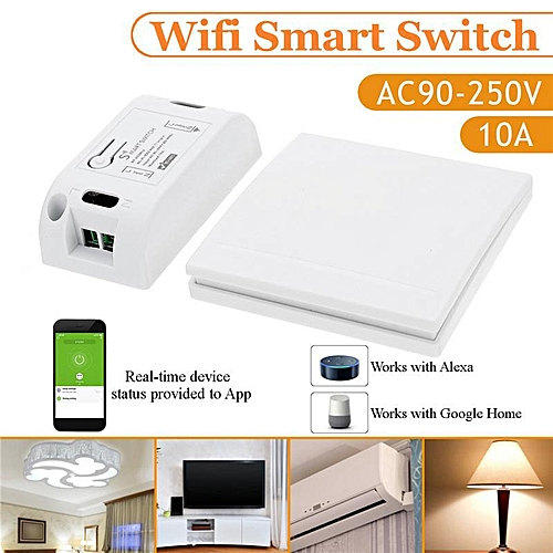 【Free Shipping + Flash Deal】 Wireless RF WiFi Smart Home Switch Receiver  Module 433 Mhz110V 220V Remote Control Light Switch Works With Alexa