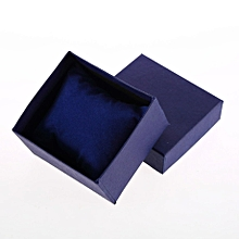 Present Gift Boxes Case For Bangle Jewelry Ring Earrings Wrist Watch Box-Blue