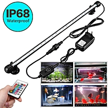 50CM WATERPROOF RGB COLOUR REMOTE LED LIGHTING FISH TANK AQUARIUM STRIP LAMP EU