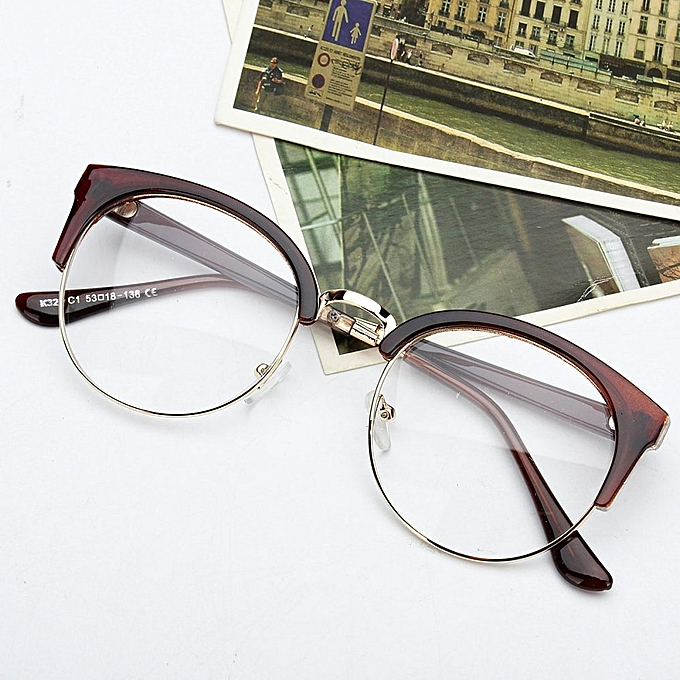 Buy Fashion Retro Style Women Men Nerd Glasses Clear Lens Eyewear ...
