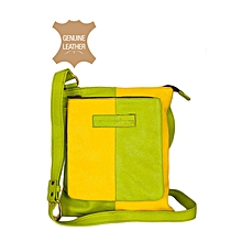 Yellow/ Green Front Pocket Body Bag