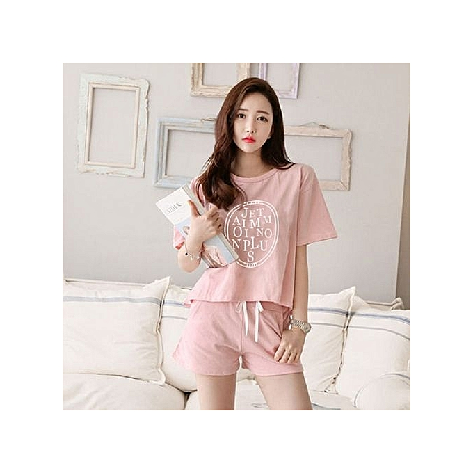 Women lady cotton pyjamas pajamas sleepwear set loungewear short set size  jpg 680x680 Cotton sleepwear 8e0b2d895