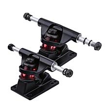 2pcs Skateboard Trucks Combo 3.25inch Skatebaord (Black)