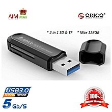 ORICO CRS21 USB 3.0 2 in 1 SD and TF/MicroSD SDHC SDXC 5Gbps SuperSpeed mini USB card reader  PDmall