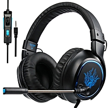 3.5mm Wired Gaming Headsets Over Ear Game Headphone Noise Canceling Earphone with Microphone Volume Control for PC Laptop PS4  XBOX ONE