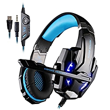 KOTION EACH G9000 3.5mm Game Gaming Headphone Headset Earphone Headband with Microphone LED Light for Laptop Tablet Mobile Phones