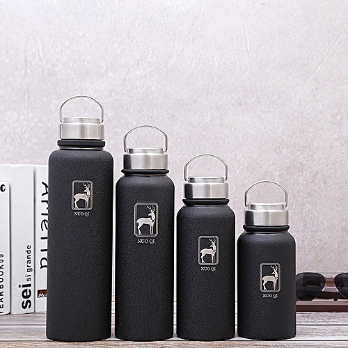 f579c063d7f Generic 600/800/1000/1500ml Stainless Steel Vacuum Flask Outdoor Sport  Chilly Bottle with Hand Ring Portable Travel Thermos Cup( 1000ml)