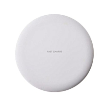 Fast Wireless Charger for iPhone X 8 Plus Quick Charge QI Wireless Charger Pad Ultra Slim Mobile Phone Charger for Galaxy S8 - White