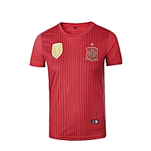 Spain National Team Jersey T-shirt  For Women (White)