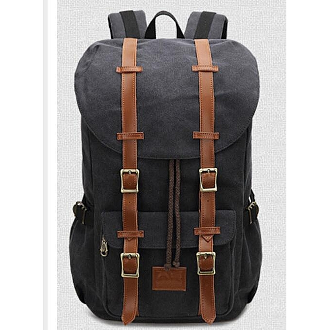 a90a856a91 Generic Men Canvas Large Backpack Travel Bags For Men Vintage Style ...