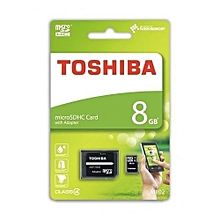 Micro SD Memory Card - M102 - 8GB - Black