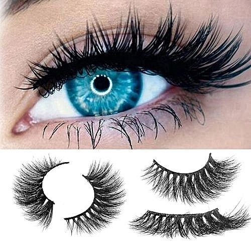11da1fbd73 Luxury Mink 3D Real Natural Thick False Fake Eyelashes Eye Lashes Makeup  Extension AB-Black - Black