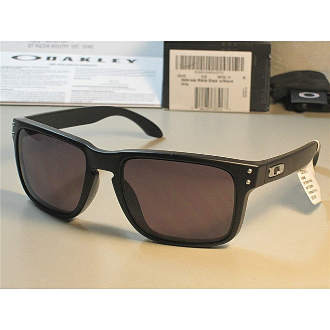 Oakley HOLBROOK SUNGLASSES OO9102-01 MATTE BLACK WARM GREY OZ seller ... c7bd0c6a4b
