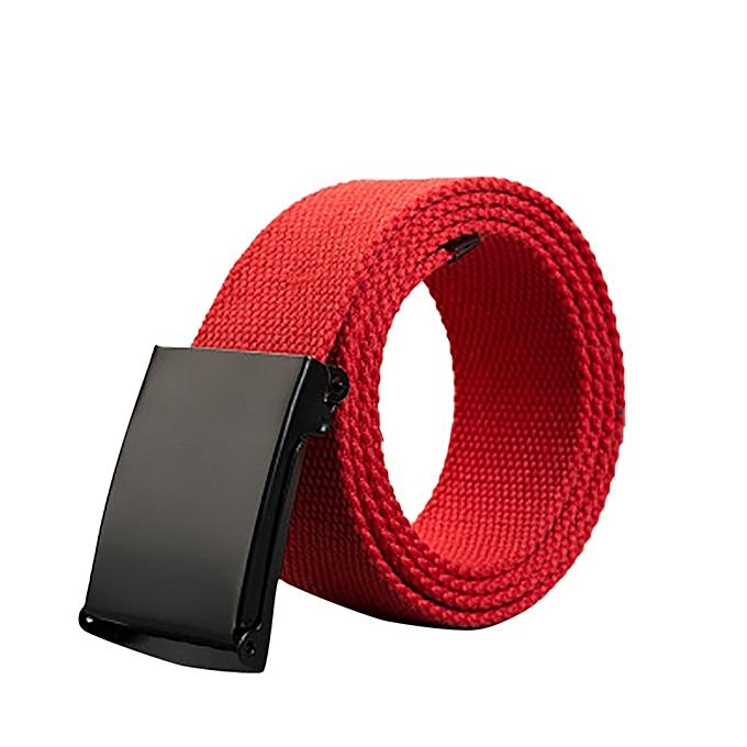Hiamok Men Women Automatic Fashion Nylon Belt Buckle Military Fans Tactical  Canvas Belt e73d92c55e