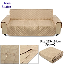 Couch Sofa Cover Removable Quilted Slipcover Pet Protector W/ Strap 1 2 3 Seater