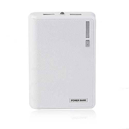 HP-10400MAH Portable 4*18650 Battery External Power Bank Phone Battery Charger white