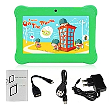 Q88 AU Plug Children Tablet 7-Inch Touch Screen 512MB+8GB Kid Pad With Speaker green