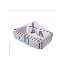 4 in1 Foldable Diaper Bag, Bassinet, travel bag And Change Station- Grey