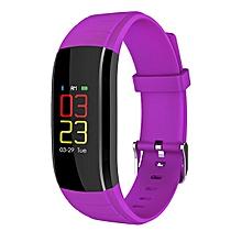 KALOAD Touch LCD Smart Bracelet Dymanic Heart Rate Blood Pressure Monitor IP67 Purple