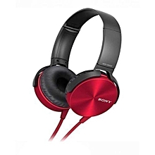 SONY Headphones With EXTA BASS - Red and Black